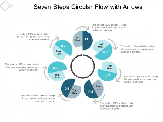 Seven Steps Circular Flow With Arrows Ppt Powerpoint Presentation Inspiration Graphics