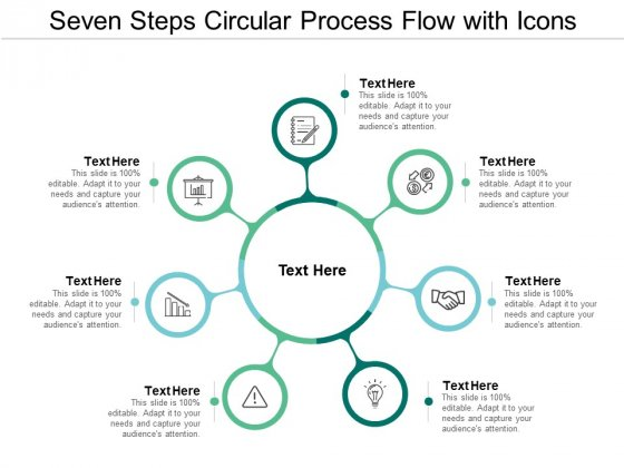 Seven Steps Circular Process Flow With Icons Ppt PowerPoint Presentation Ideas Background Image