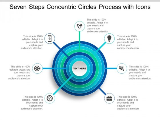 Seven Steps Concentric Circles Process With Icons Ppt Powerpoint Presentation Infographics Introduction