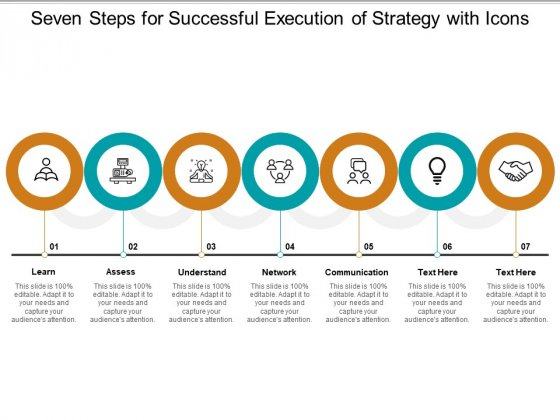 Seven Steps For Successful Execution Of Strategy With Icons Ppt Powerpoint Presentation Summary Slides