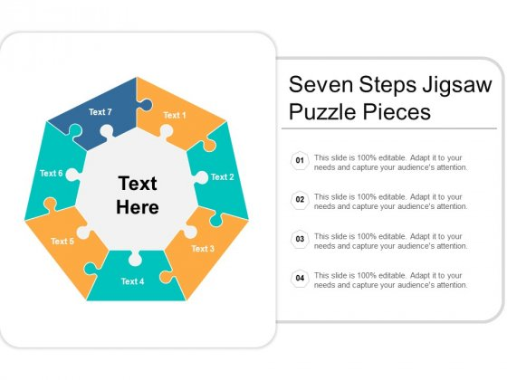 Visual Search Puzzles Circular 7 Stages Powerpoint Slides