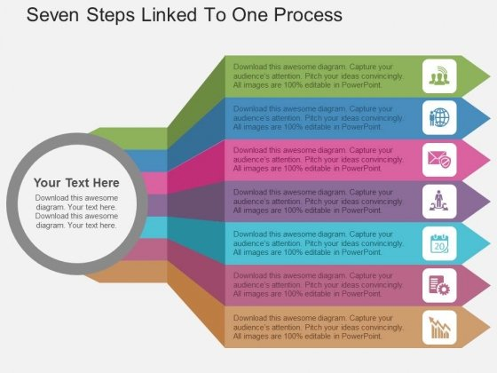 Seven Steps Linked To One Process Powerpoint Templates