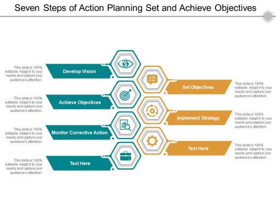 Seven Steps Of Action Planning Set And Achieve Objectives Ppt Powerpoint Presentation File Gallery