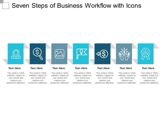 Seven Steps Of Business Workflow With Icons Ppt PowerPoint Presentation Gallery Elements