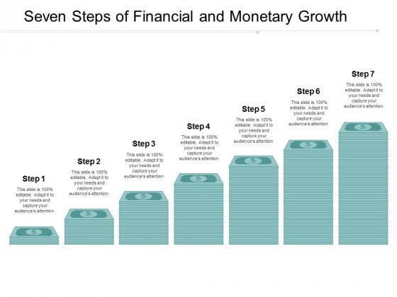 Seven Steps Of Financial And Monetary Growth Ppt Powerpoint Presentation Inspiration Backgrounds