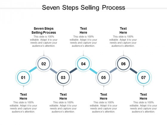 Seven Steps Selling Process Ppt PowerPoint Presentation Icon Show Cpb Pdf