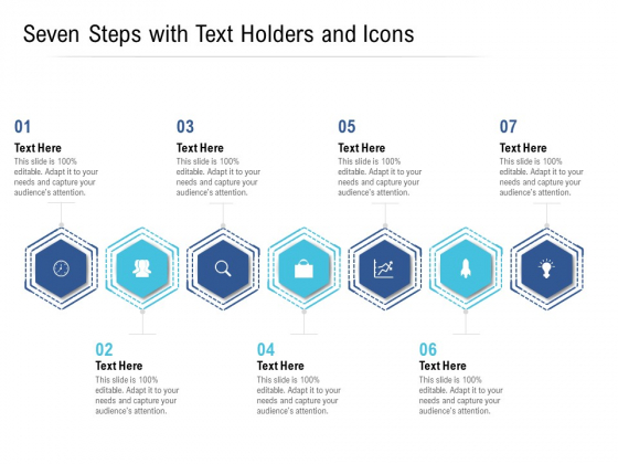 Seven Steps With Text Holders And Icons Ppt PowerPoint Presentation Icon Slideshow