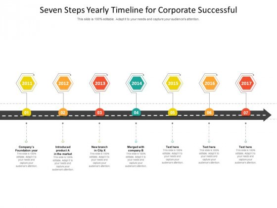 Seven Steps Yearly Timeline For Corporate Successful Ppt PowerPoint Presentation Gallery Graphics Pictures PDF