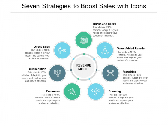 Seven Strategies To Boost Sales With Icons Ppt PowerPoint Presentation Outline Structure