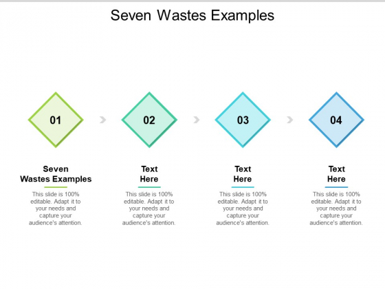 Seven Wastes Examples Ppt PowerPoint Presentation Infographic Template Show Cpb Pdf