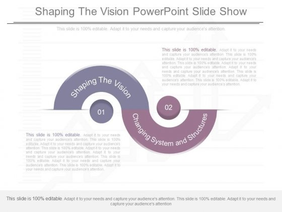 Shaping The Vision Powerpoint Slide Show