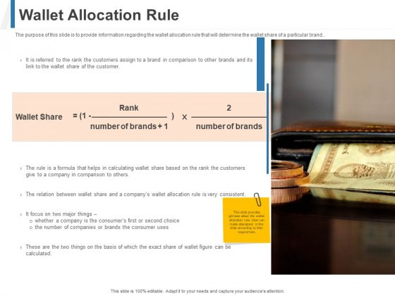 Share Of Wallet Wallet Allocation Rule Ppt File Samples PDF