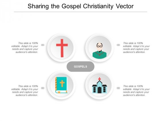 Sharing The Gospel Christianity Vector Ppt Powerpoint Presentation Infographic Template Graphics Template
