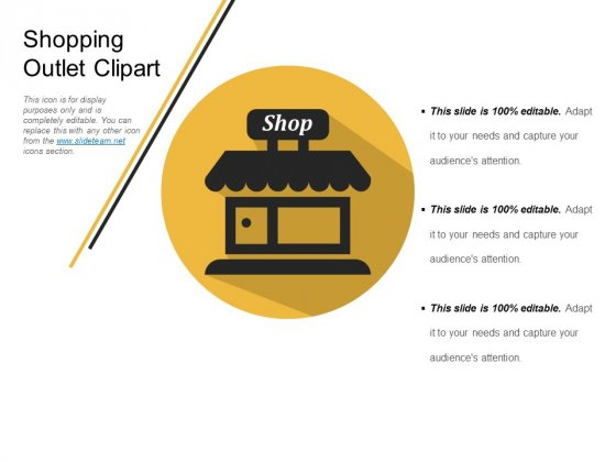 Shopping Outlet Clipart Ppt PowerPoint Presentation Show Images
