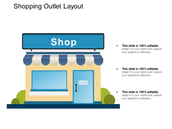 Shopping Outlet Layout Ppt PowerPoint Presentation Show Layout