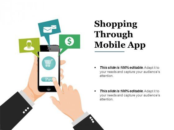Shopping Through Mobile App Ppt PowerPoint Presentation File Example Introduction