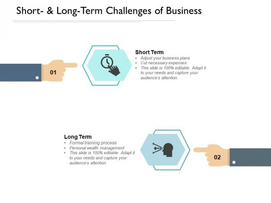 Short And Long Term Challenges Of Business Ppt Powerpoint Presentation Slides Deck