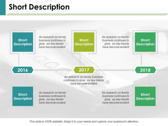 Short Description Ppt PowerPoint Presentation Model Samples