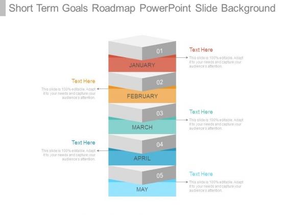 Short Term Goals Roadmap Powerpoint Slide Background