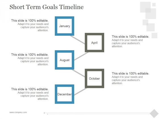 Short Term Goals Timeline Ppt PowerPoint Presentation Slide Download