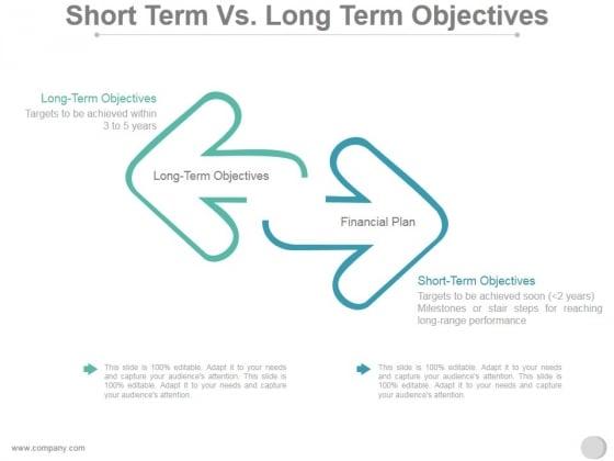 Short Term Vs Long Term Objectives Ppt PowerPoint Presentation Styles