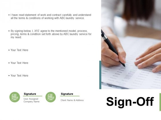 Sign Off Management Ppt PowerPoint Presentation Gallery Show