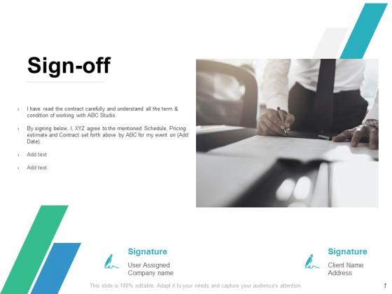 Sign Off Management Ppt PowerPoint Presentation Portfolio Example