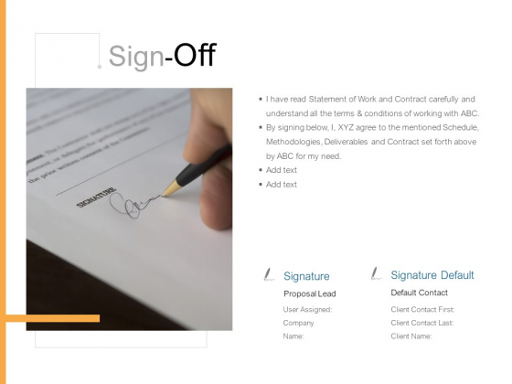 Sign Off Planning Marketing Ppt PowerPoint Presentation File Guide