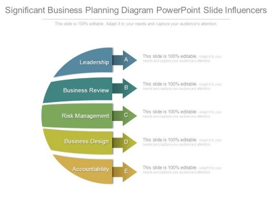 Significant Business Planning Diagram Powerpoint Slide Influencers