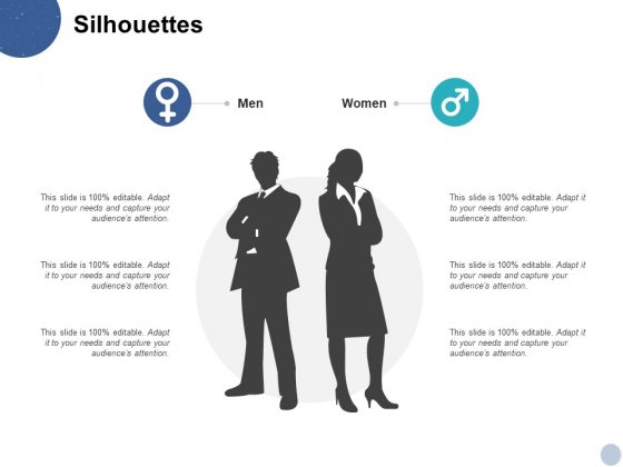 Silhouettes Male Female Ppt PowerPoint Presentation Infographic Template Backgrounds