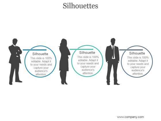 Silhouettes Ppt PowerPoint Presentation Diagrams