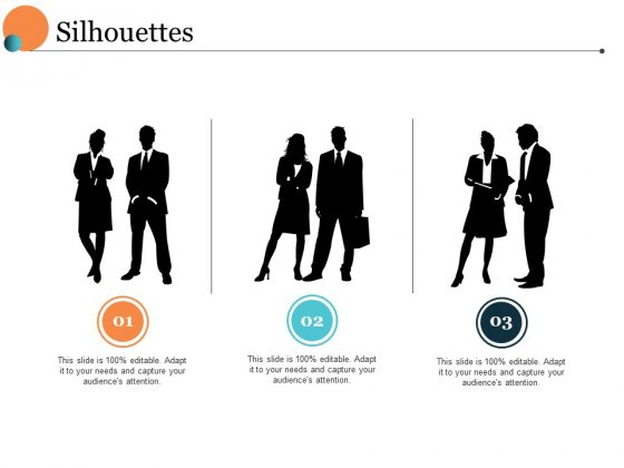 Silhouettes Ppt PowerPoint Presentation File Visual Aids