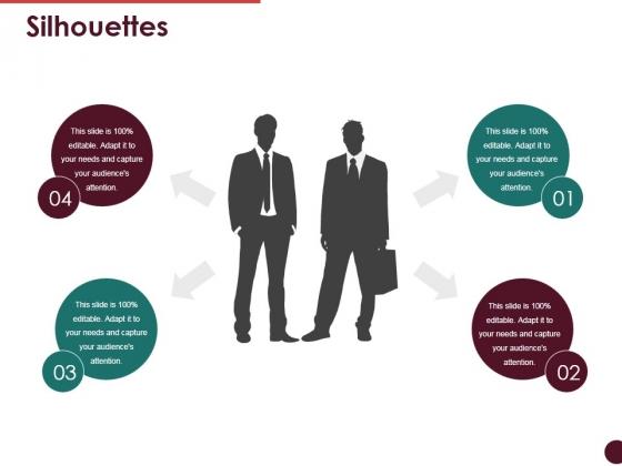 Silhouettes Ppt PowerPoint Presentation Model Portrait