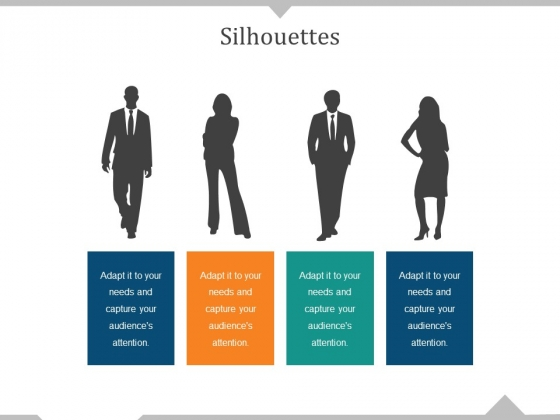 Silhouettes Ppt PowerPoint Presentation Visual Aids Deck