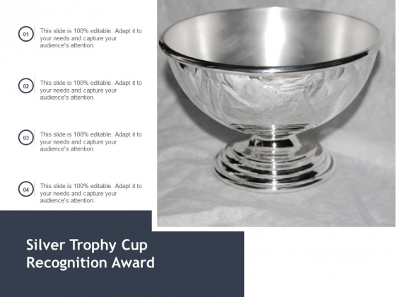 Silver Trophy Cup Recognition Award Ppt PowerPoint Presentation Show Background Images
