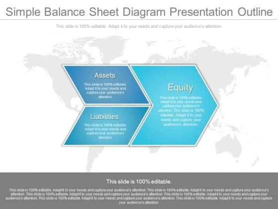 Simple Balance Sheet Diagram Presentation Outline