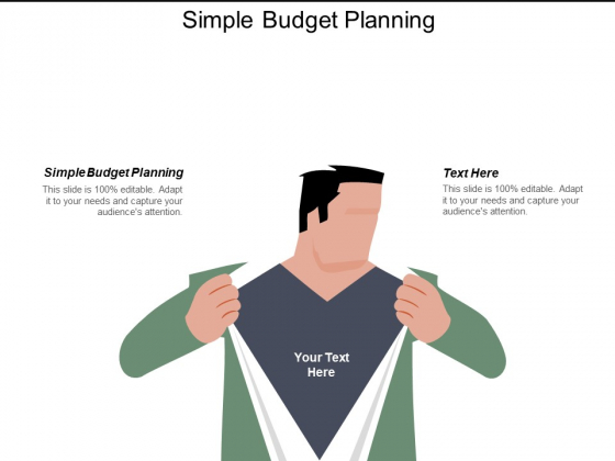 Simple Budget Planning Ppt PowerPoint Presentation Pictures Master Slide Cpb