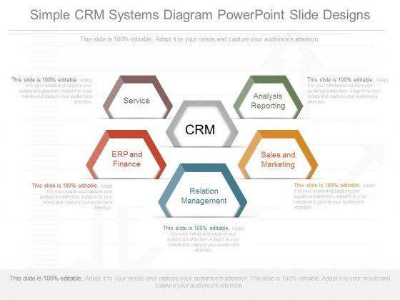 Simple Crm Systems Diagram Powerpoint Slide Designs