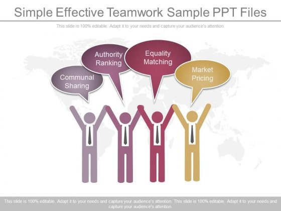 Simple Effective Teamwork Sample Ppt Files