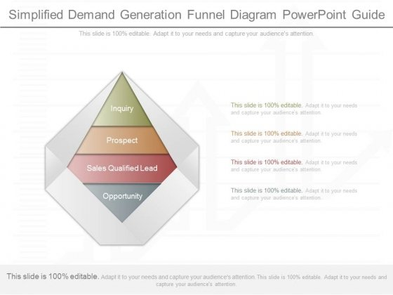 Simplified Demand Generation Funnel Diagram Powerpoint Guide