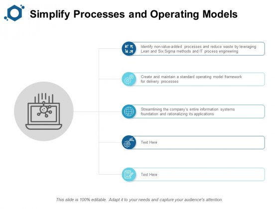Simplify Processes And Operating Models Ppt PowerPoint Presentation Icon Inspiration