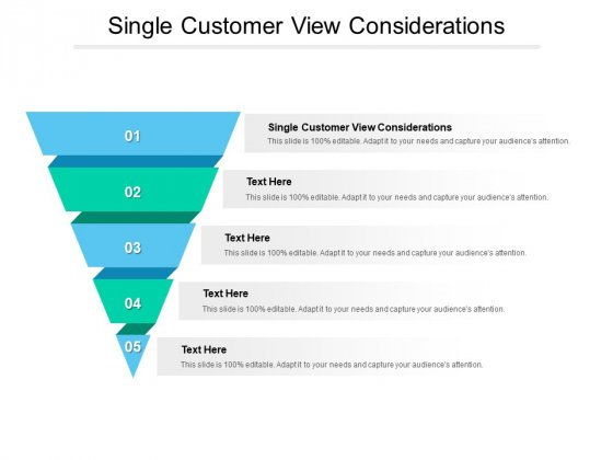 Single Customer View Considerations Ppt PowerPoint Presentation Icon Aids Cpb Pdf