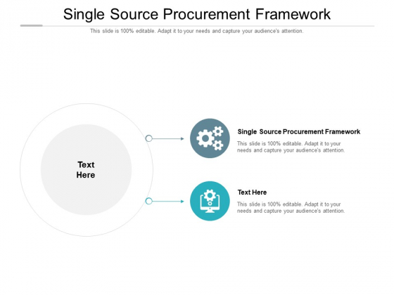 Single Source Procurement Framework Ppt PowerPoint Presentation Show Example Introduction Cpb Pdf