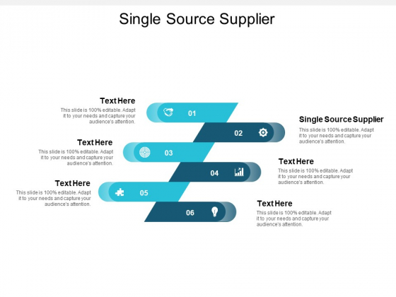 Single Source Supplier Ppt PowerPoint Presentation Slides Deck Cpb
