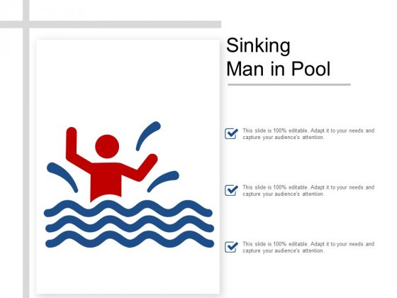 Sinking Man In Pool Ppt PowerPoint Presentation File Brochure