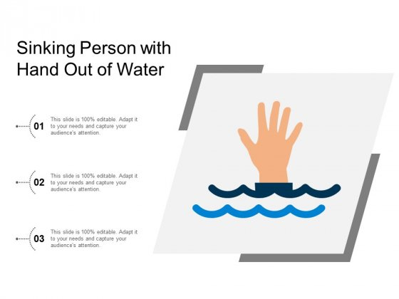 Sinking Person With Hand Out Of Water Ppt PowerPoint Presentation Icon Show