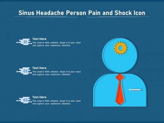 Sinus Headache Person Pain And Shock Icon Ppt PowerPoint Presentation File Vector PDF