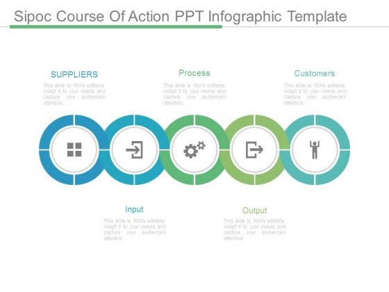 sipoc course of action ppt infographic template - powerpoint templates, Modern powerpoint