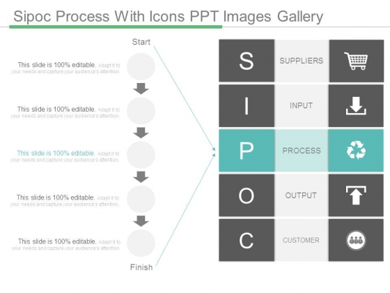 sipoc process with icons ppt images gallery - powerpoint templates, Modern powerpoint