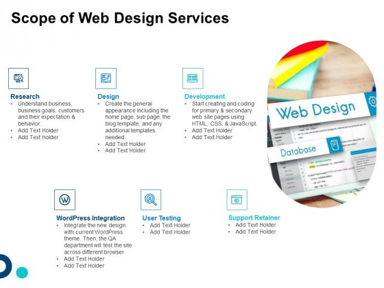 Site Development And Design Scope Of Web Design Services Ppt Slides Objects PDF